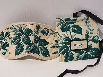 Gucci Bloom Travel Eye Mask / Sleep Mask / Blindfold With Small Pouch Bag - New