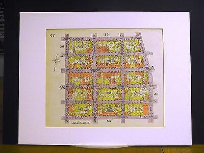 Brooklyn Map 1929 Matted MANHATTAN AINSLIE BUSHWICK STAGG MAUJER POWERS HUMBOLDT