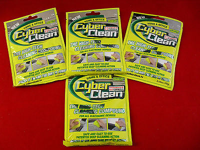 4-Pack Home & Office Cyber Clean High Tech Cleaner (yellow) Free ship in US!