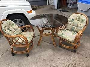 Glass table & chair set