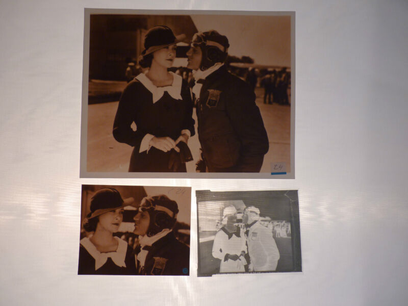 Cagney Lindsay Devil Dogs of the Air Movie Sepia (2) Photo (1) Negative Lot