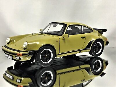 Norev Porsche 911 (930) Turbo 3.3 Coupe 1977 Olive Green Diecast Model Car - Porsche 911 Turbo Coupe
