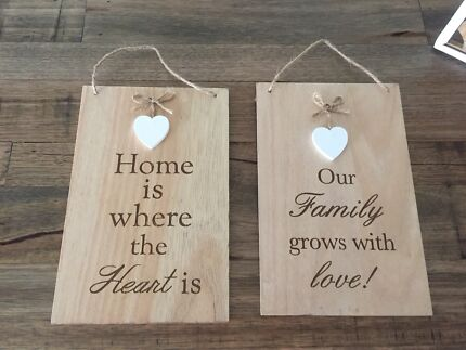 $5 each.. Wooden hanging decoration home signs decor