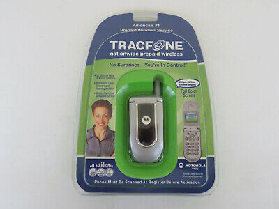 New Motorola Tracfone Model V170 Sealed Prepaid Wireless Cell Phone