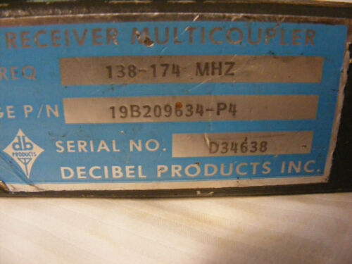 Decibel Products VHF 138-174 MHz Receiver Multicoupler
