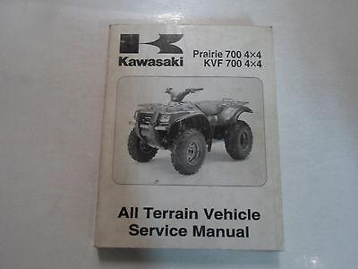 2004 Kawasaki Prairie 700 4x4 KVF 700 4x4 ATV Service Repair Shop Manual NEW