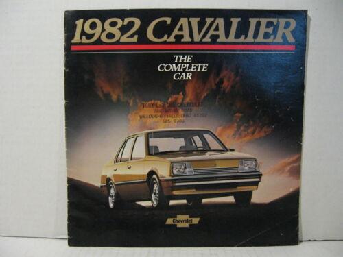 1982 Chevrolet Cavalier Car Dealer Sales Brochure Catalog