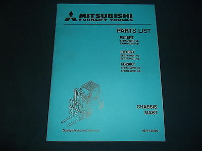 Mitsubishi Fb16kt Fb18kt Fb20kt Forklift Parts Book Manual