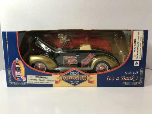 Golden Wheel, Pepsi-Cola, 1940 Ford Convertible Replica Metal Bank
