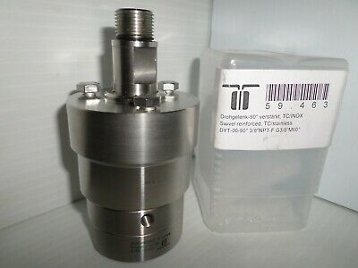 New Mosmatic 59.463 Dyt 38npt-f 90 Degree Stainless Rotating Swivel Tcinox