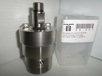 New Mosmatic 59.463 Dyt 38npt-f 90 Degree Stainless Rotating Swivel Tcinox