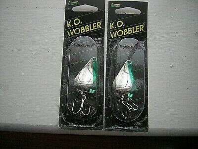 Glow in the dark ko wobbler style casting spoon Glo grn