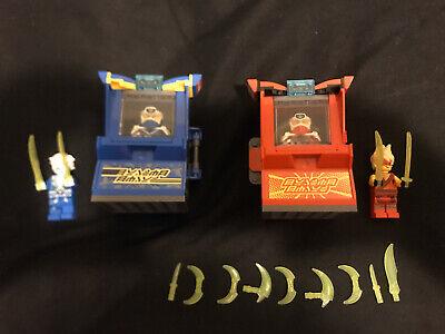 LEGO Ninjago Kai Avatar Jay Avatar 71714 71715 Arcade Pods Lot of 2 Used 4 Figs
