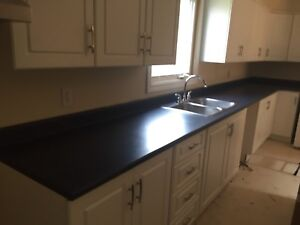 Countertop, sink, and taps