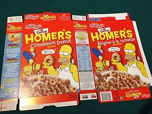 Simpsons collector cereal and Pop Tarts boxes