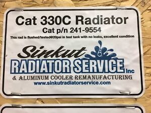 Cat 330CL radiator and air to air aftercooler for sale
