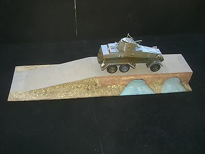 Hausser Elastolin / Lineol Diorama aus Spielzeug Laden Sodaten Blech Fahrzeuge