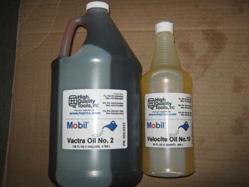 """1 GALLON OF MOBIL VACTRA WAY OIL #2 & 1 QUART OF VELOCITE SPINDLE OIL #10 """"NEW"""""""