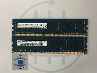 16GB (2x 8GB) DDR3 12800U 1600 MHz SK Hynix Desktop Arbeitsspeicher RAM