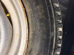 Trailer tire on rim