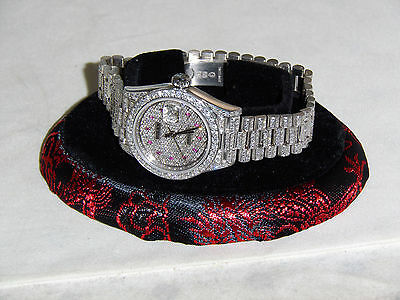 Rolex Lady Datejust Presidesident Diamond Bezel model # 69179 - NICE