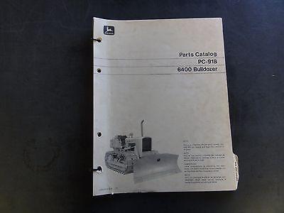 John Deere 6400 Bulldozer Parts Catalog Pc-918