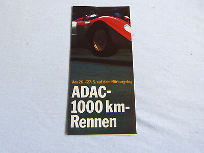 Nürburgring ADAC 1000km Rennen 1973 Original Prospekt Leaflet Rennsport