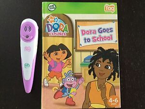 Leaf Frog Tag Reader and Dora Book.