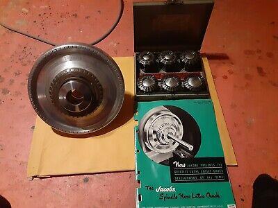 Jacobs Rubber Flex Lathe Collet Chuck L0 Mount Wcollet Set Original Paperwork