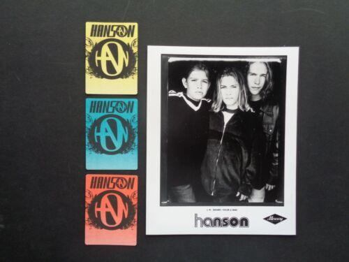 "HANSON,8x10"" B/W Promo photo,3 original Backstage passes"