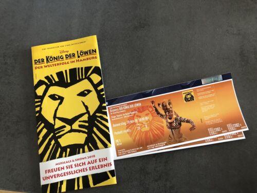 2x König der Löwen Tickets 29.11.2018 20 Uhr P1 Kategorie Hamburg