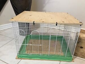 Cage and two nest boxes