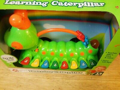 Navystar Learning Caterpillar Learning Teaches ABC 123 Colors Sounds Brand New