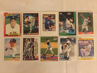 Lot of 10 ROGER CLEMENS Assorted Baseball Cards - Lot #10
