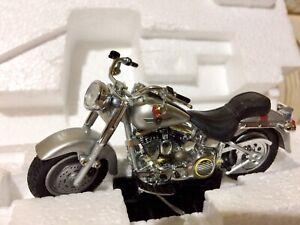 (SOLD)Harley Davidson Fat Boy 1990 1:24 Scale Diecast Franklin Mint