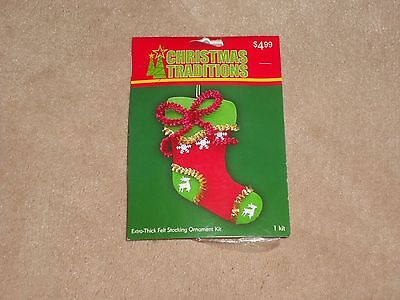 NEW, CHRISTMAS TRADITIONS ORNAMENT KIT, STOCKING