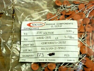 QTY 25 ea 820 pf +//- 20/% Disc Ceramic Capacitor NOS, New Old Stock D62