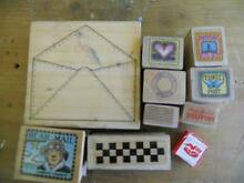 Mailing themed rubber craft stamp set Innes Park Bundaberg City Preview