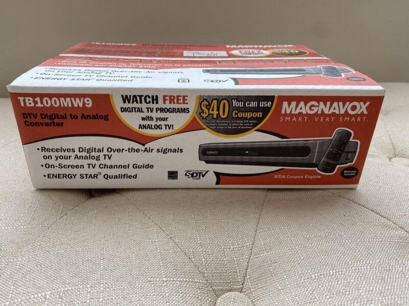 NIB Magnavox TB100MW9 DTV Digital To Analog Converter SDTV Tuner