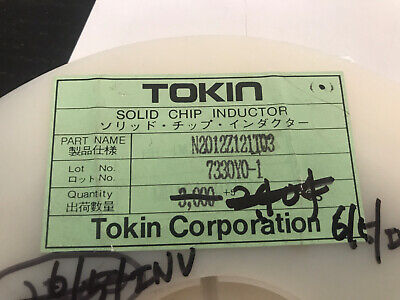 Inductor Smd 603 2000 Pcs Tokin