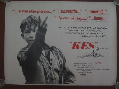 Original UK British Quad Film Poster KES 1969 KEN LOACH Linen Backed