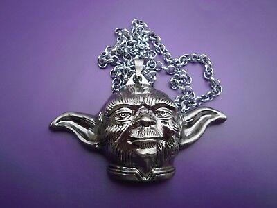 1 Yoda  necklace 3 D   Star wars  pendant -  Fancy dress - chunky 60 cm long