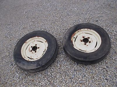 Allis Chalmers Wd45 Wd 45 Tractor Ac Rims 6.00 X 16 6ply Armstrng Front Tires