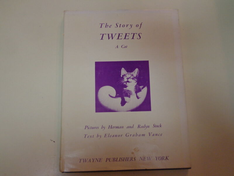 The Story of Tweets – A Cat 1956 HBDJ Photographic Children's Book CUTE!!