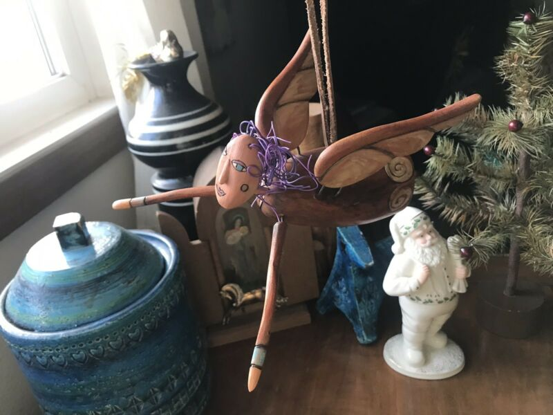 Sticks Furniture Hanging Art Object Joy Angel Christmas Sculpture Sarah Grant