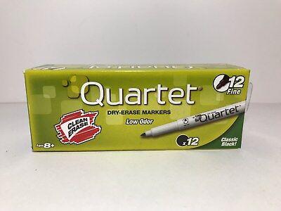 Dry-erase Markers Quartet Low Odor Box Of 12 Classic Black