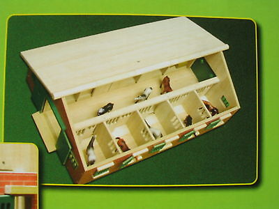 Van Manen Pferdestall 1:32  Holz Pferde Stall Kids Globe  für Siku Reiterhof