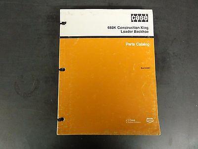 Case 680k Construction King Loader Backhoe Parts Catalog  8-2261