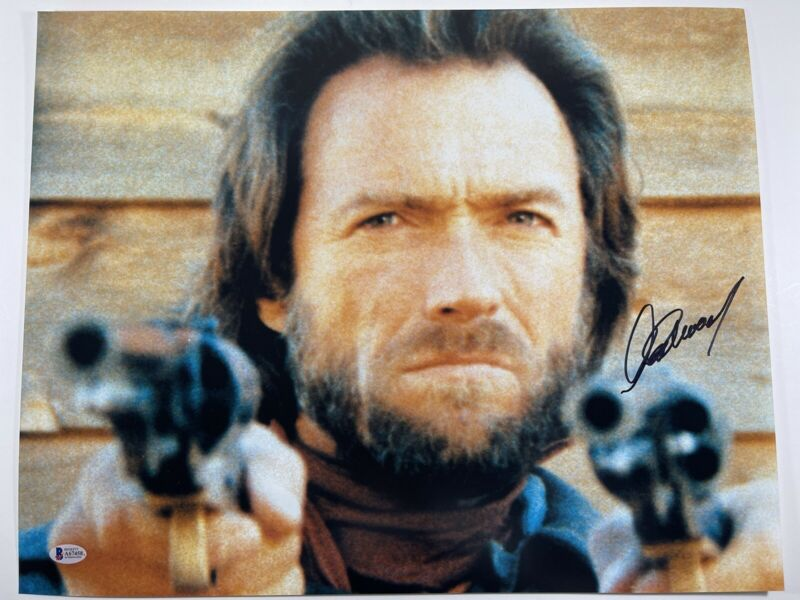 CLINT EASTWOOD SIGNED THE OUTLAW JOSEY WALES 16x20 PHOTO BECKETT BAS LOA #A67458
