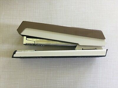 Vintage Acco 50 Stapler Brown Tan Retro Look